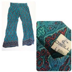 O'Neill palazzo boho Aztec print wide leg Pants L